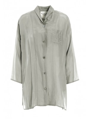 SILK CHANGEANT BIG SHIRT