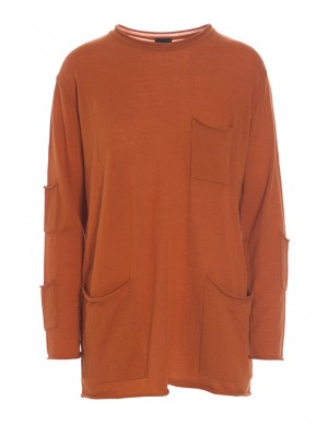 WILLOW WOOL BLOUSE WITH POCKETS