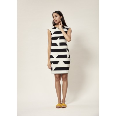 DISRUPTED STRIPE DRESS