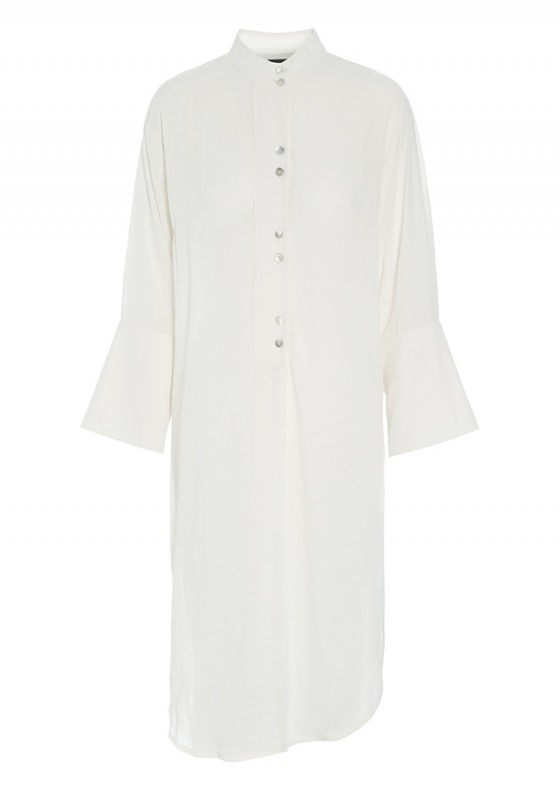 VAPOUR VISCOSE LONG SHIRT