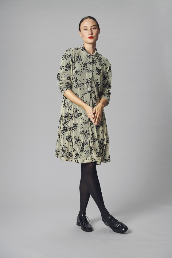 DRAPE JERSEY COAT DRESS