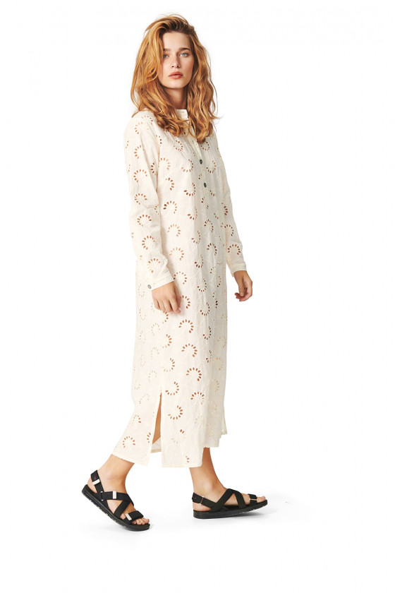 BRODERIE ANGLAISE LONG DRESS