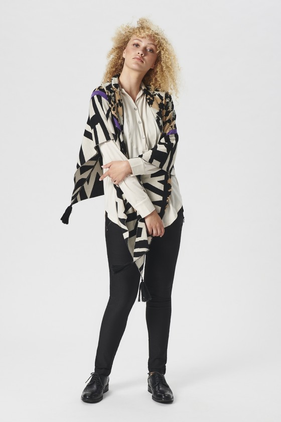 ATLAS JERSEY BLOUSE WITH COLLAR