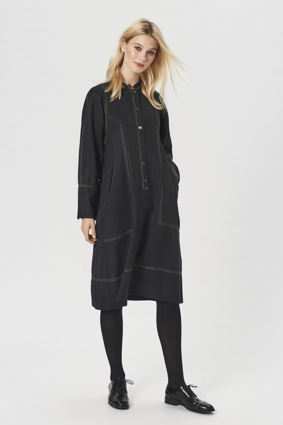 DRAPY TWILL DRESS