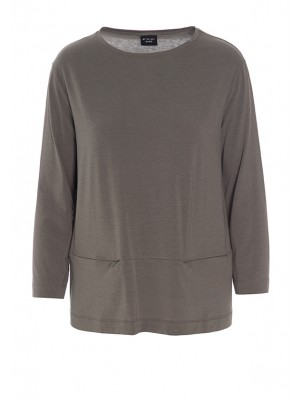 ATLAS JERSEY BLOUSE WITH POCKETS.
