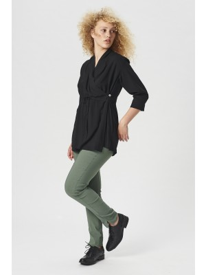 ECLIPSE VISCOSE WRAP BLOUSE