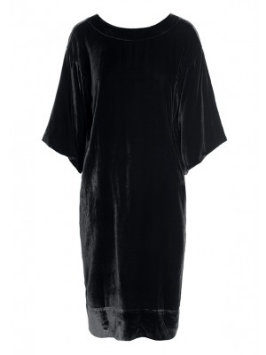 DUSK SILK VELVET LONG DRESS
