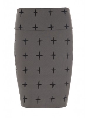 GRID STRETCH SKIRT