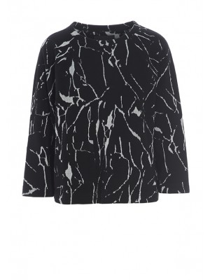 OPAL CRACKS JACQUARD BLOUSE
