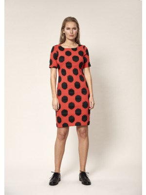 DOT JACQUARD DRESS