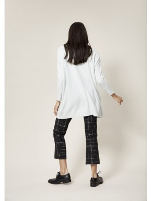 WOVEN THREAD PANTS WITH FLARE