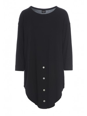 SOIL JERSEY BLOUSE W BUTTONS