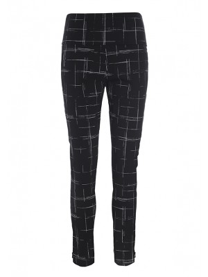 WOVEN THREAD TROUSERS WITH ZIP