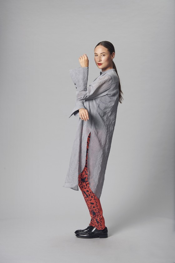 WASHI SILK BLEND LONG SHIRT