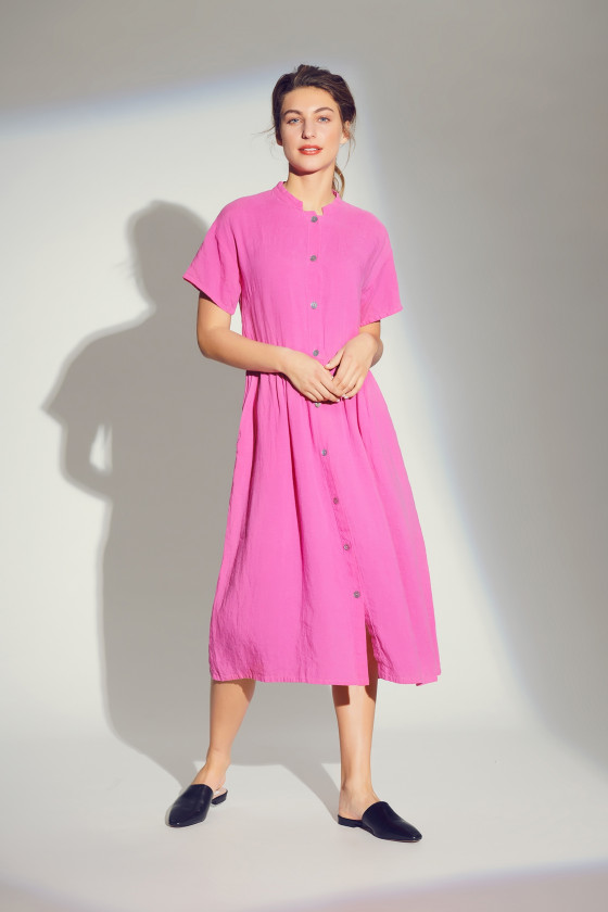 AIRY LINEN SHIRT DRESS