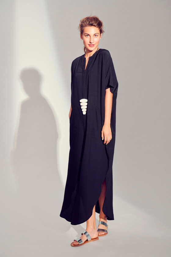 WHIRLING VISCOSE LONG DRESS