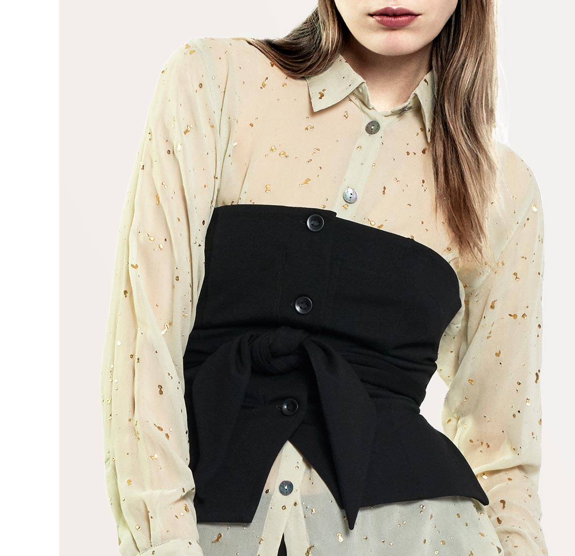 Oil Stain Viscose Georgette Shirt